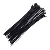 Abraçadeira em nylon preta 2,5 x 200 mm - Cod 00150