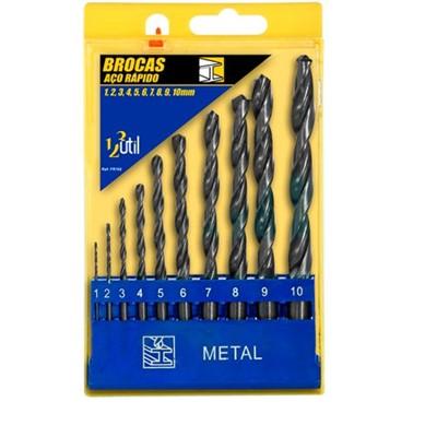 Broca de Aço Rápido 1/4 mm com 10 Peças Cód. 01599