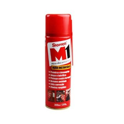 Desengripante Micro Óleo Anticorrosivo Spray M1 com 300ml - STARRET - cod 02885