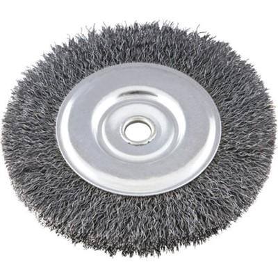 "Escova de aço Latonada Circular para Esmeril 6"" X 3/4"" X 5/8"" - cod 01760"