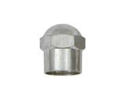 Tampa metálica cromada sextavada para válvula 5998 c/ 100pçs - cod 00668